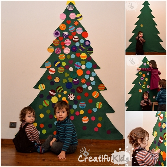 Crafts for kids - Homemade Christmas Tree