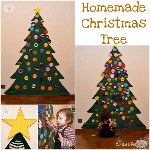 Crafts for kids - Playing with the Homemade Christmas Tree