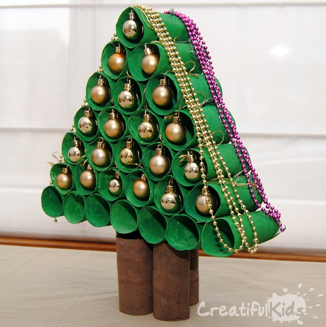 Crafts With Toilet Paper Rolls Toilet Paper Christmas Tree