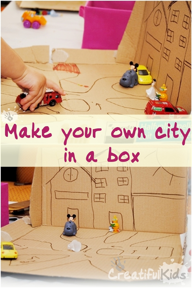 How To Make Your Own Cardboard Crafts For Kids City In A
