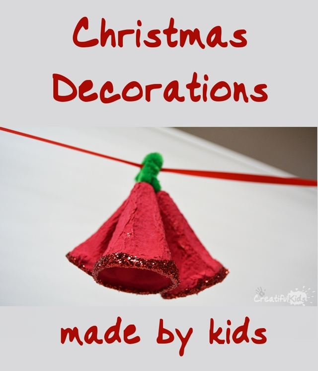 Christmas Decorations - Egg Carton Jingle Bells