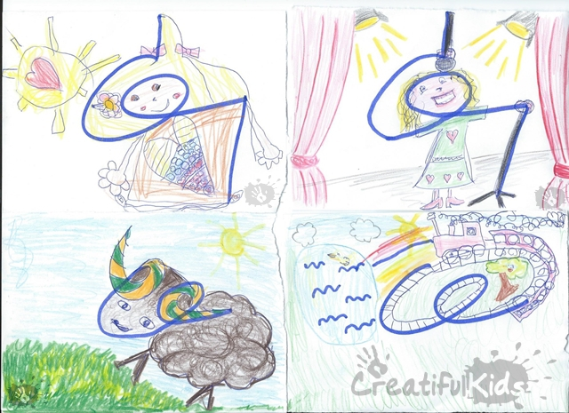 Creative with kids - fun drawing game