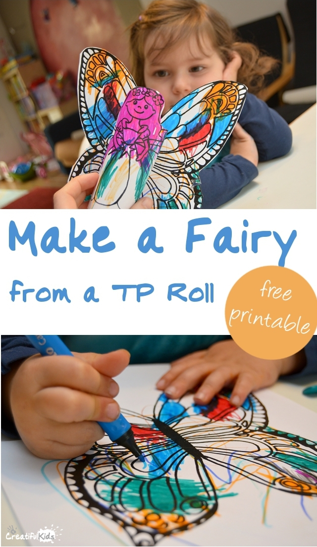 Easy Activities for Toddlers: Make a Fairy from a Toilet Paper Roll