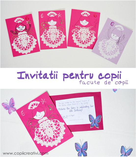 Birthday Party Invitations made by Kids