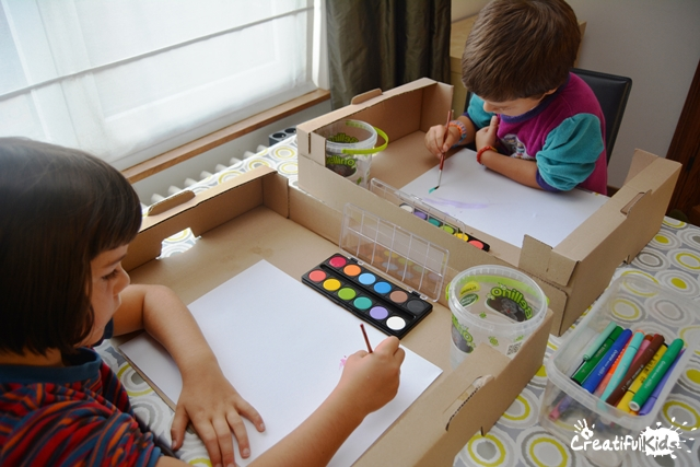 Make the art projects for kids mess free