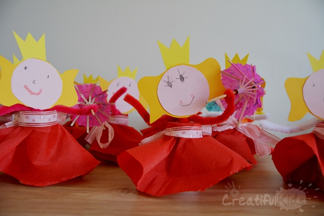 Kids crafts - make your own paper princess